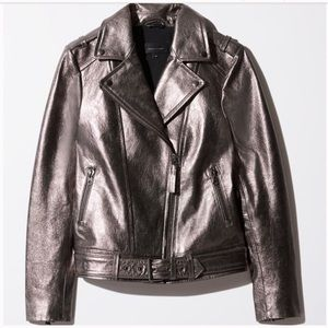 Mackage for Aritzia Metallic Moto Jacket